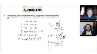 HOW TO SOLVE A DIFFICULT Kp QUESTION using ALGEBRA | A Level Chemistry Tutor