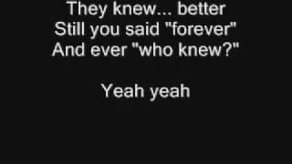 Pink-who knew (with lyrics)