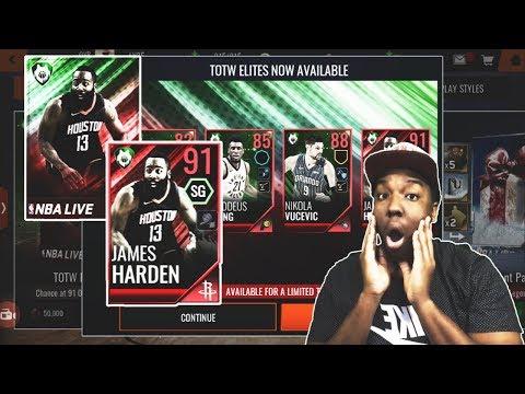 INSANE 15 MILLION COIN PULL FROM TOTW PACKS IN NBA LIVE MOBILE 18!!!