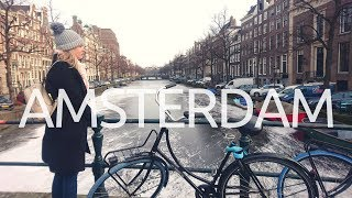 An extremely Cold Day in Amsterdam in winter || Amsterdam the Netherlands Travel Vlog