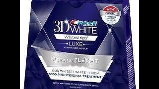 Demo & Review: Crest 3D White Luxe Supreme FlexFit White Strips(Be sure to follow me on: Facebook: https://www.facebook.com/pages/Brokegirlmakeup/811304975565618 My Blog: http://jenbrokegirlmakeup.blogspot.com ..., 2014-06-30T15:31:15.000Z)