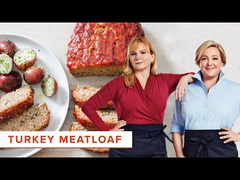 How to Make Turkey Meatloaf with Ketchup-Brown Sugar Glaze with Becky and Julia