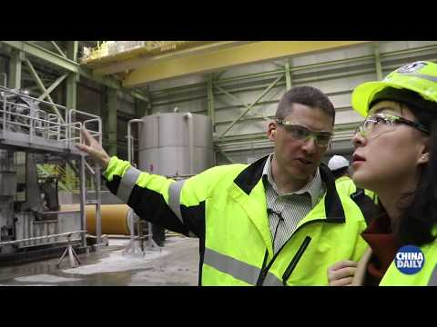 Maine paper mill revived by Chinese investment - YouTube