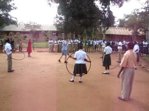 Hula Hooping in Kisarawe, Tanzania