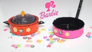 Barbie Tencere Tava Yapımı - DIY - Kendin Yap Barbie Kolay Mutfak Eşyaları - Bidünya Oyuncak
