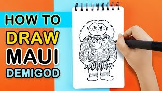 How to Draw Maui Demigod (Moana)