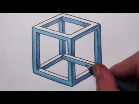 How To Draw an Impossible Cube - Optical Illusion