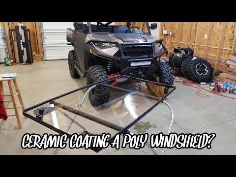 Polaris Ranger XP 1000 | Ceramic Coating a Side-by-Side Poly Windshield