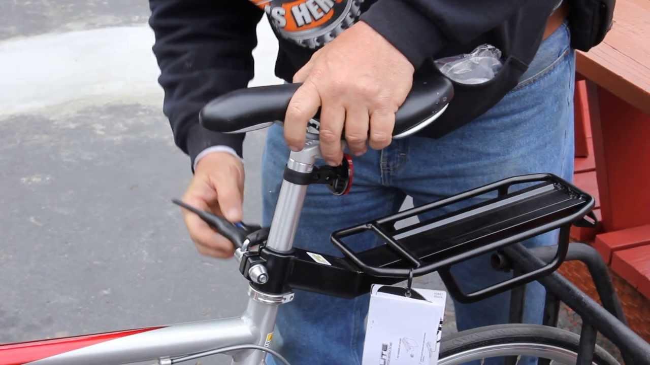 Bicycle Seat Post Rack How To Install Bikemanforu