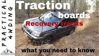 TRACTION BOARDS RECOVERY TRACKS USES AND TIPS - Practical 4wding