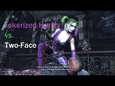 Batman Arkham City Jokerized Harley vs. Two-Face |