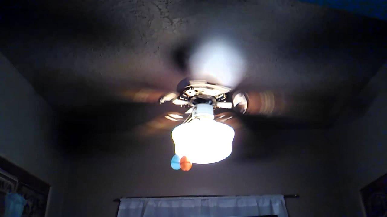 Litex Signet Deluxe Ceiling Fan With School House Light Kit