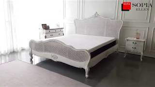 [소피아엘렌] 에메랄드 프렌치 엔틱 라탄 신혼 침대