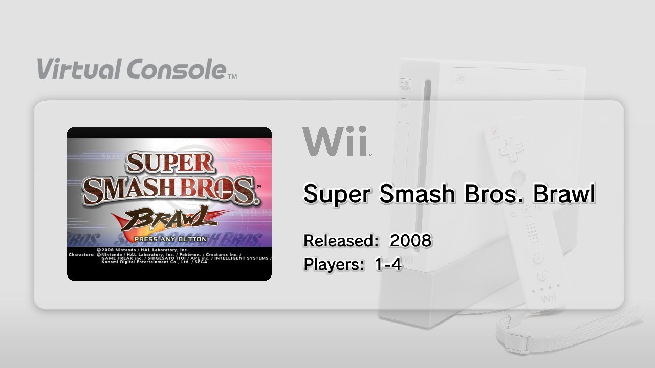 Wii Virtual Console on Wii U Gameplay! (WiiVC Injector Script) (Super Smash  Bros  Brawl)