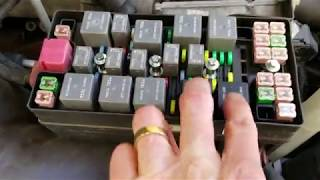 Ford Mustang Convertible Top Relay Testing & Replacement Location For Fixing Broken Top