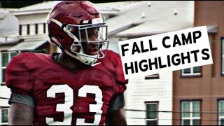 Alabama Football fall camp highlights - Watch linebackers work out