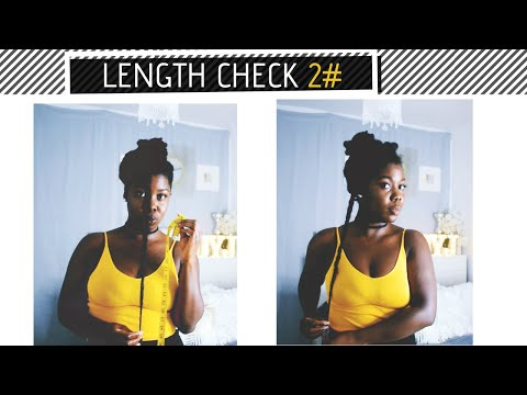 Length check on HIP LENGTH Natural Hair | Update!  | Obaa Yaa Jones