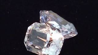 Natural White Sapphire - 10 Carats Pair AIGS Certified - by Gandhi Enterprises