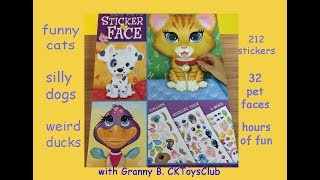 Silly Pets Sticker Face. Sticker fun with Granny B. make your own silly pets.