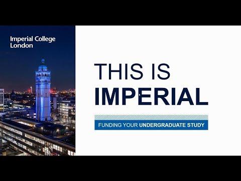 Funding undergraduate study at Imperial
