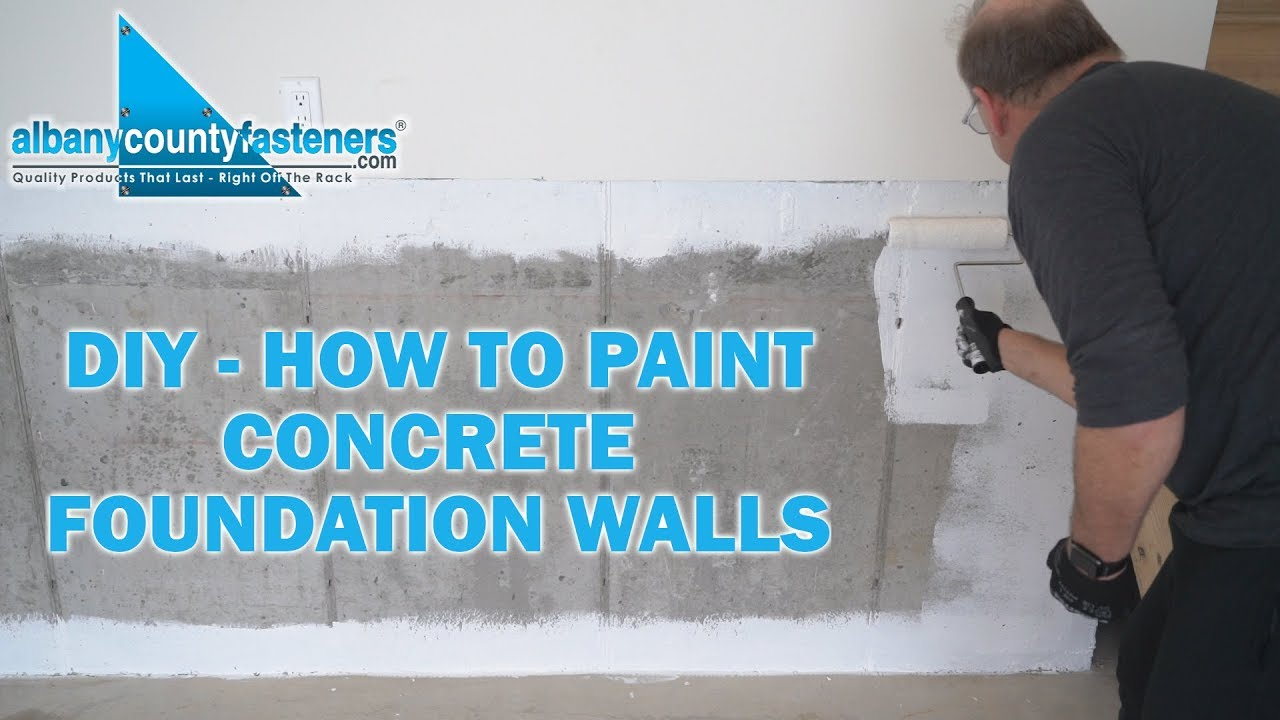 Paint Concrete Foundations