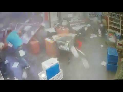 CCTV footage from office in Beirut, Lebanon during the MASSIVE explosion