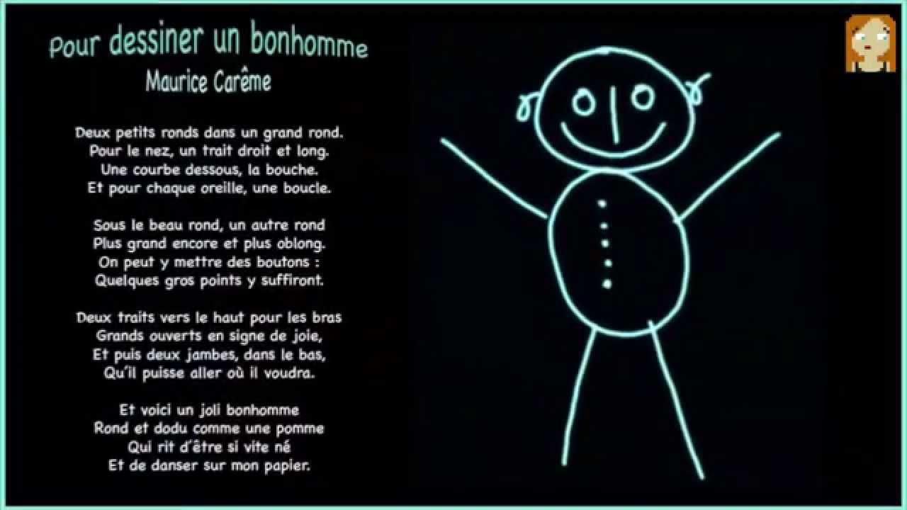 Pour dessiner un bonhomme maurice car me youtube - Le dessin du bonhomme ...