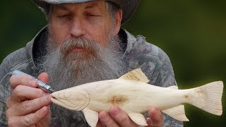 Carving a Wooden Brook Trout