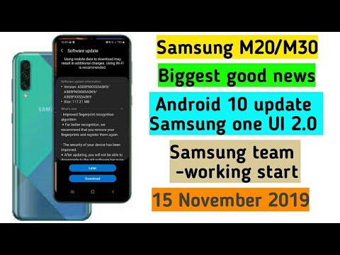 Samsung M20/M30 get Android 10 update good news Samsung one UI 2.0
