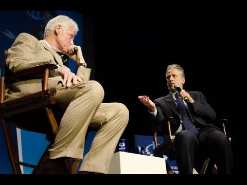 Jon Stewart Interviews President Bill Clinton: CGI U 2012 Closing Conversation