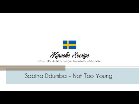 Sabina Ddumba - Not Too Young (Karaoke Piano Instrumental)