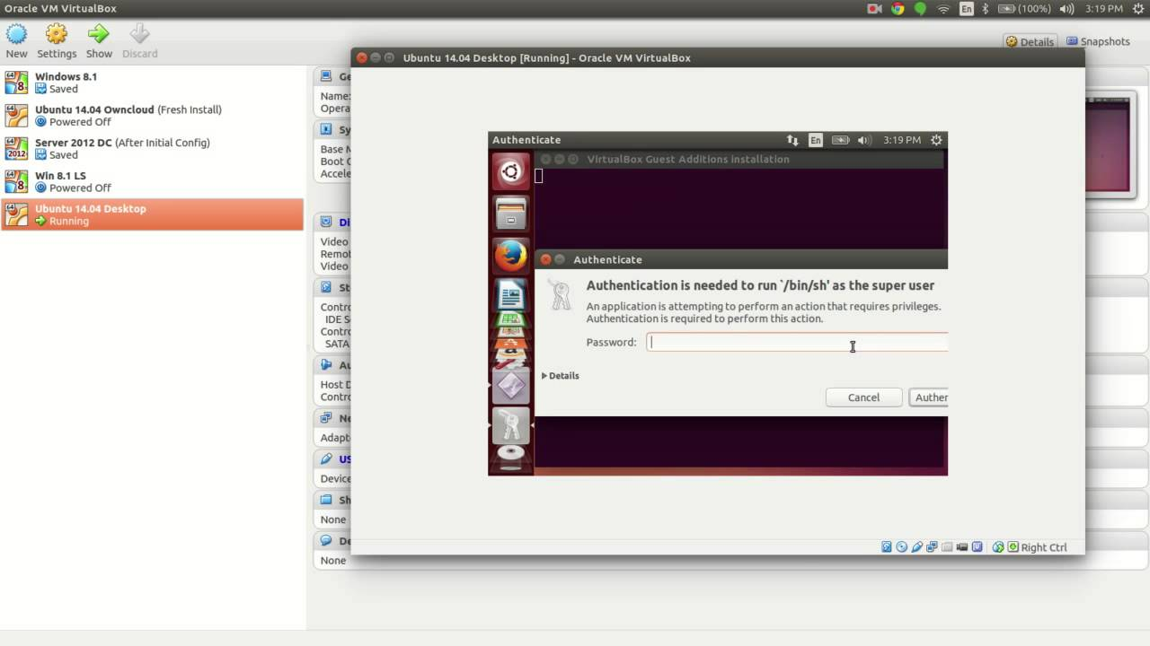 les additions invités virtualbox ubuntu
