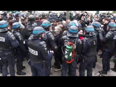 Loi Travail : Heurts en marge de la manifestation. Paris/France - 12 mai 2016