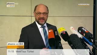 Martin Schulz zum letzten Tag der Sondierungsgespräche am 11.01.18