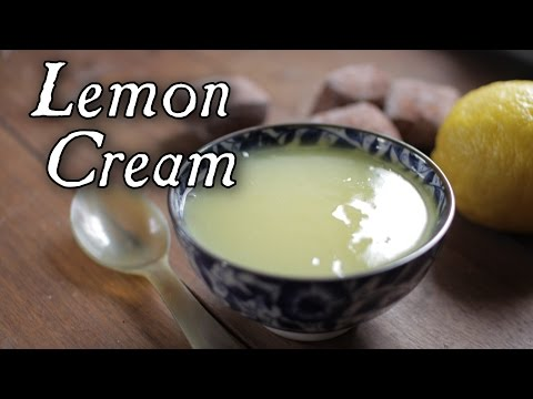A Wonderful Lemon Cream from 1796 Cookbook