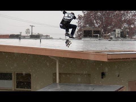 Cody McEntire Pouring Rain Nollie bs Heel Roof to Roof Raw Uncut