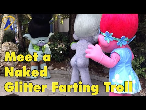 Blog Click Mikey - You can now meet a Troll that farts glitter at Universal Studios Florida!
