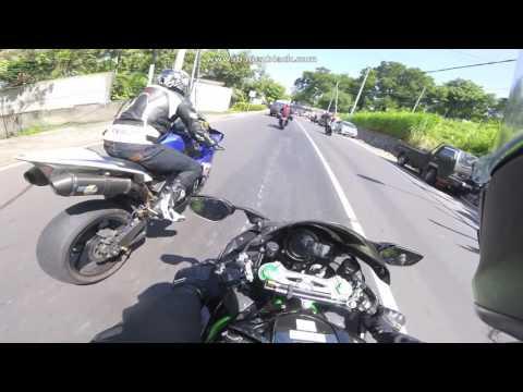 Panasin Motor 2 (h2 vs ninja 1000sx vs zx10r vs R1 vs z800)