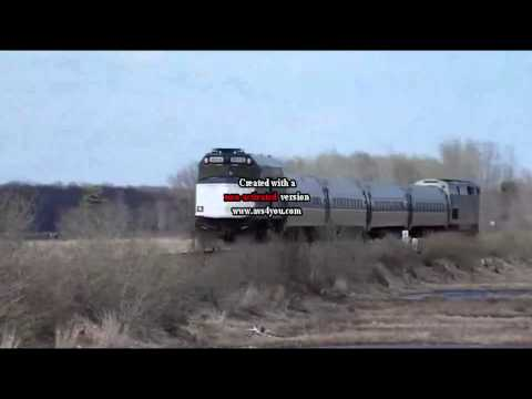Another Amtrak Downeaster Near Scarborough Maine.mp4