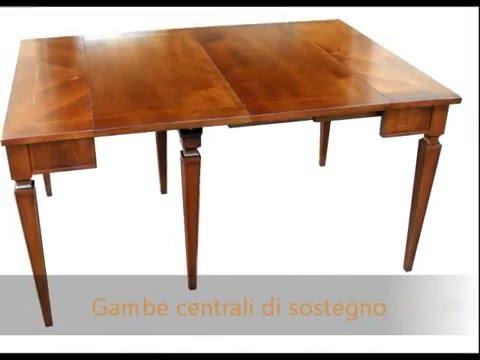 Mobili classici tavolo a consolle apribile allungabile in - Tavolo consolle allungabile stile classico ...