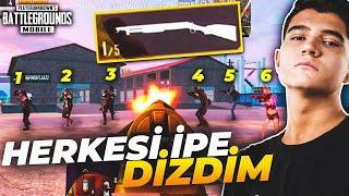 SHOTGUN İLE 6 MERMİ 6 KİLLS !! | PUBG Mobile Erangel Gameplay