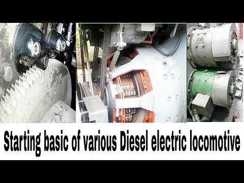 Starting basics of various diesel electric locomotives