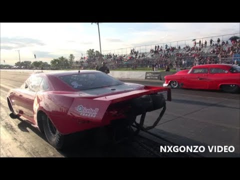 Fireball Camaro VS The 55 at Outlaw Armageddon