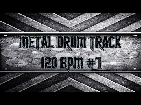 Simple Straight Metal Drum Track 120 BPM (HQ,HD)