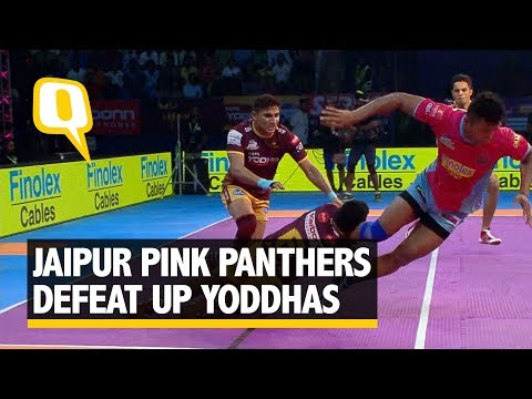 Jaipur Pink Panthers Defeat UP Yoddhas 24-22 in PKL Season 5 | The Quint