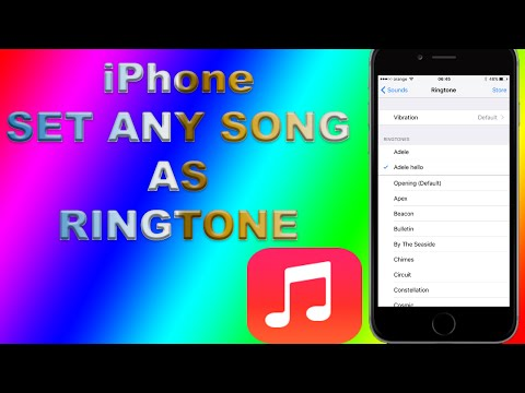 How To Set ANY IPhone Song As Ringtone NO ITunes NO PC NO JAILBREAK! - FREE!
