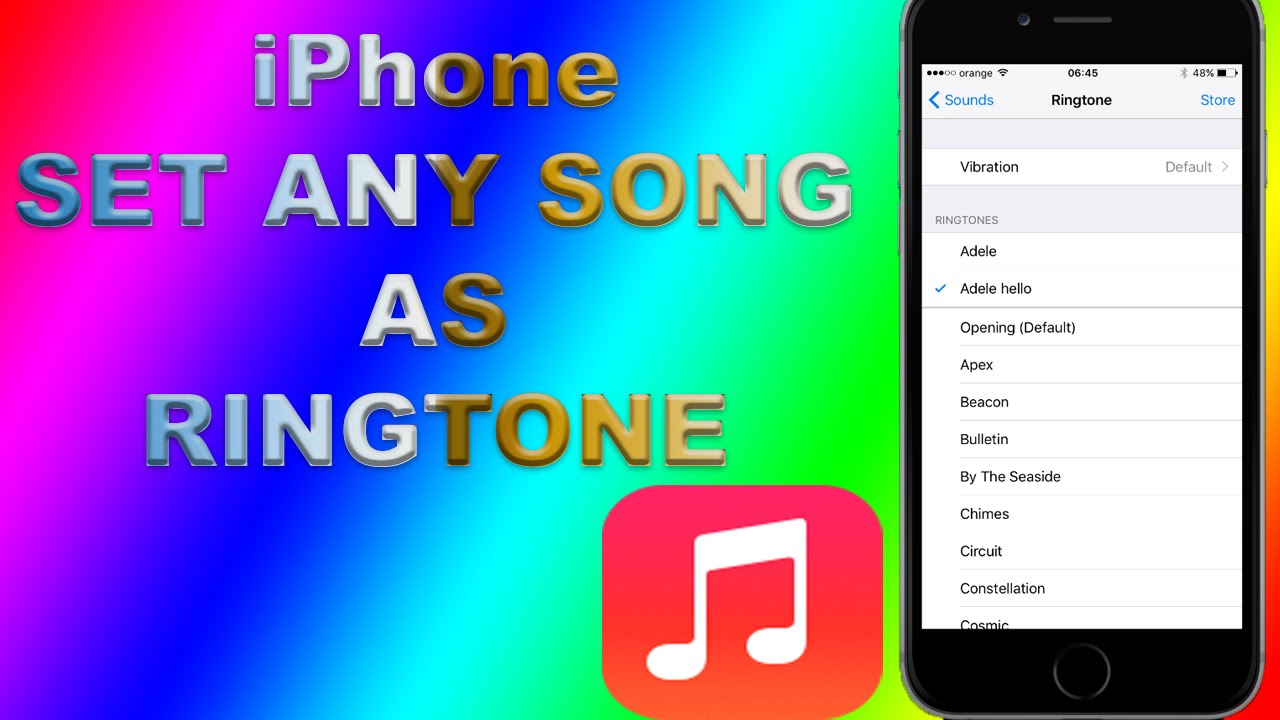 How do you change your ringtone on an iphone 6s