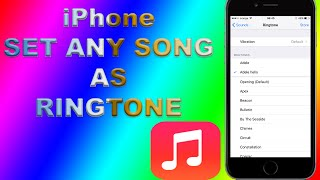 How to set ANY iPhone Song as Ringtone NO iTunes NO PC NO JAILBREAK! - FREE! thumbnail