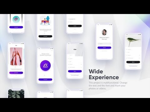 Mobile UI Mockup | After Effects template