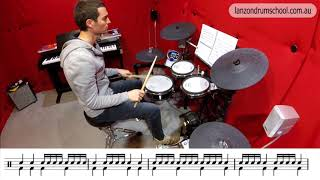 Summary Reading Exercise 1 - Sixteenth & Quarter Notes - Lanzon Drum School Unit 1 Book